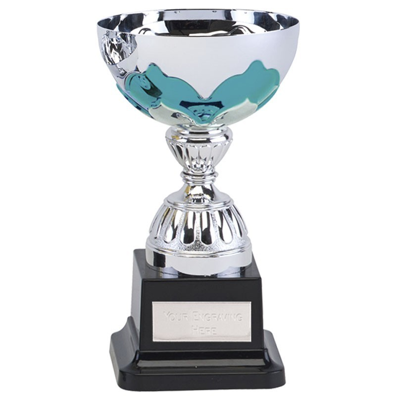 Eagle Cup in Silver and Aqua Blue - Available in 3 Sizes