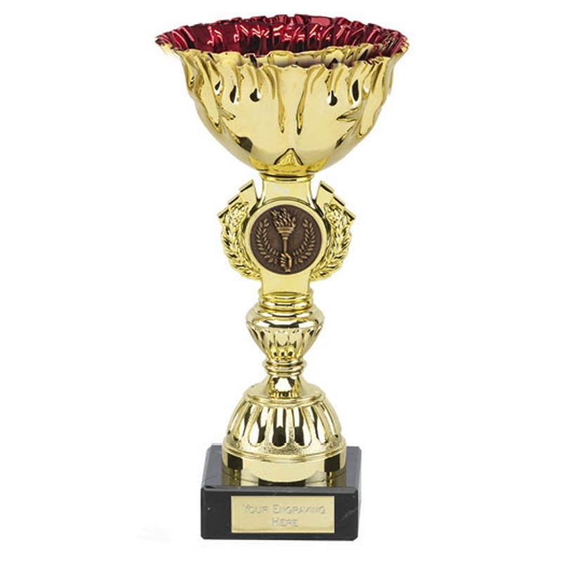 Ruby Gold Cup In Gold And Red - Available in 3 Sizes