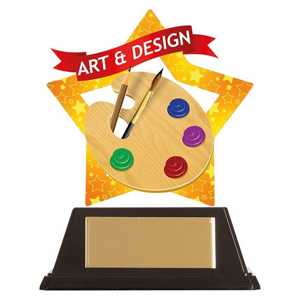 Mini-Star Art & Design Acrylic Plaque 100mm