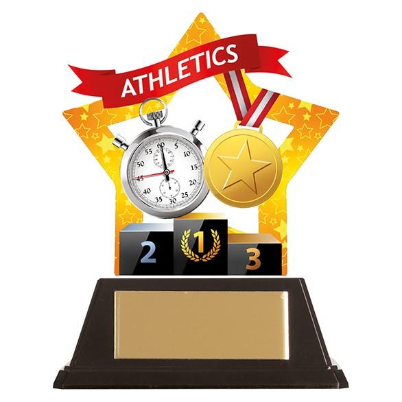 Mini-Star Athletics Acrylic Plaque 100mm