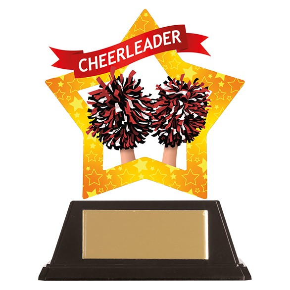Mini-Star Cheerleader Acrylic Plaque 100mm