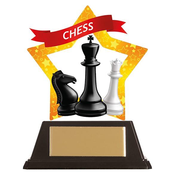 Mini-Star Chess Acrylic Plaque 100mm