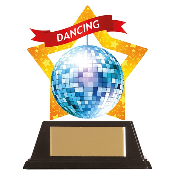 Mini-Star Glitter Ball Acrylic Plaque 100mm