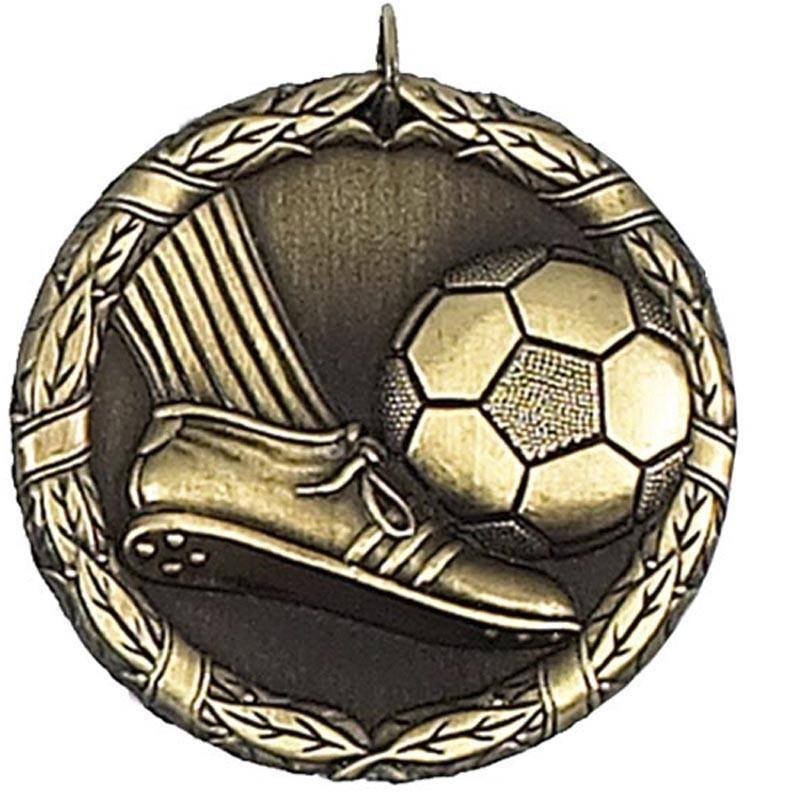 5cm Laurel Football Medal & Case