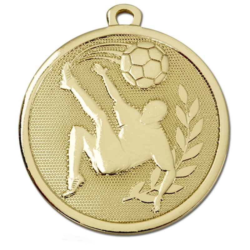 4.5cm Galaxy Football Kick Medal