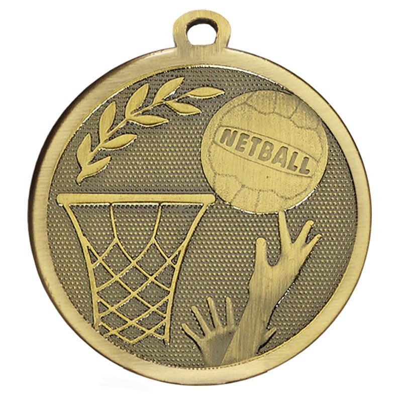 4.5cm Galaxy Netball Medal