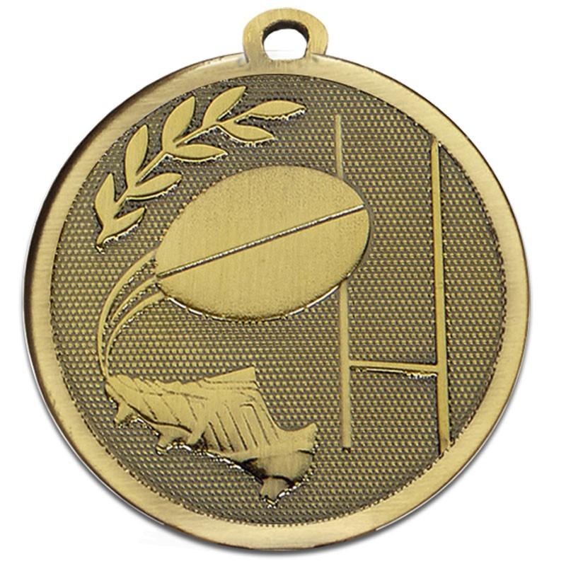 4.5cm Galaxy Rugby Medal