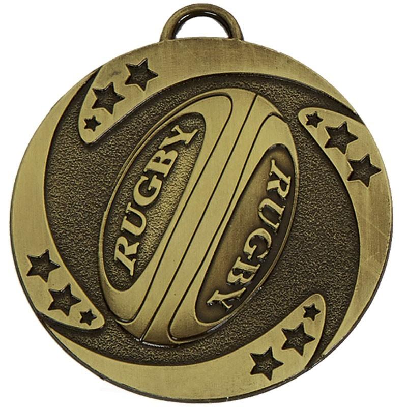 5cm Target Rugby Stars Medal