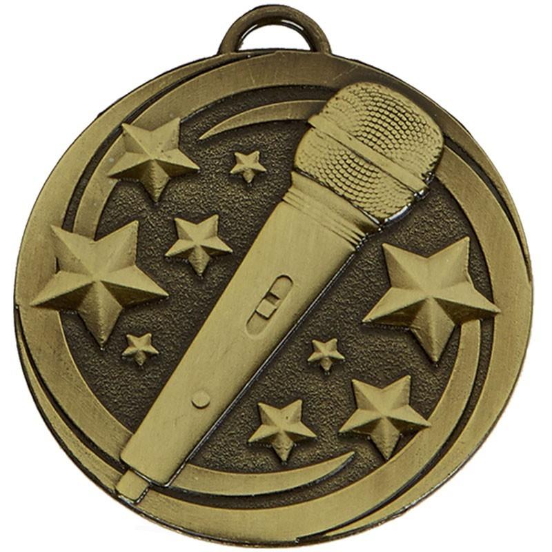 5cm Target Microphone Medal