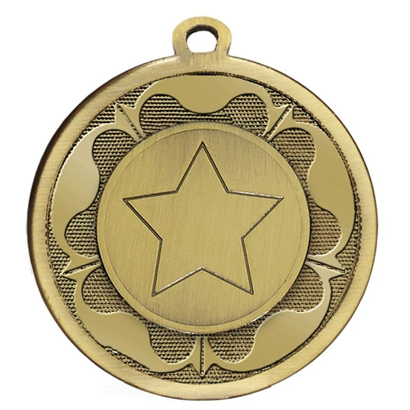 4.5cm Galaxy Tudor Rose Medal