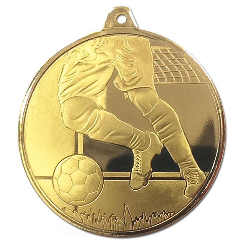 5cm Frosted Glacier Football Medal