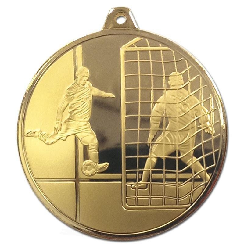 5cm Frosted Glacier Footballer Medal N