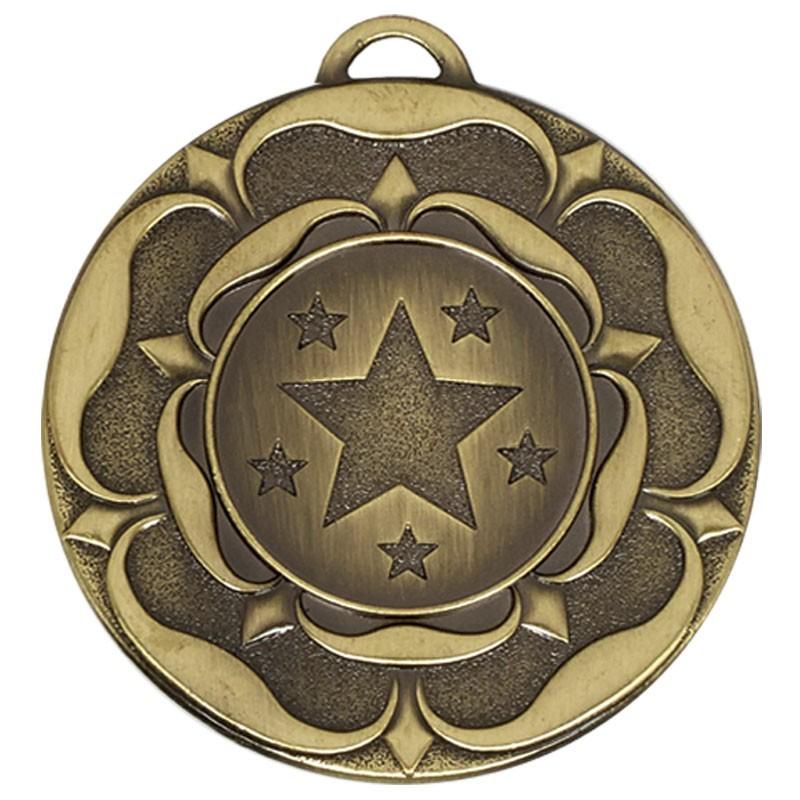 5cm Target Tudor Rose Medal