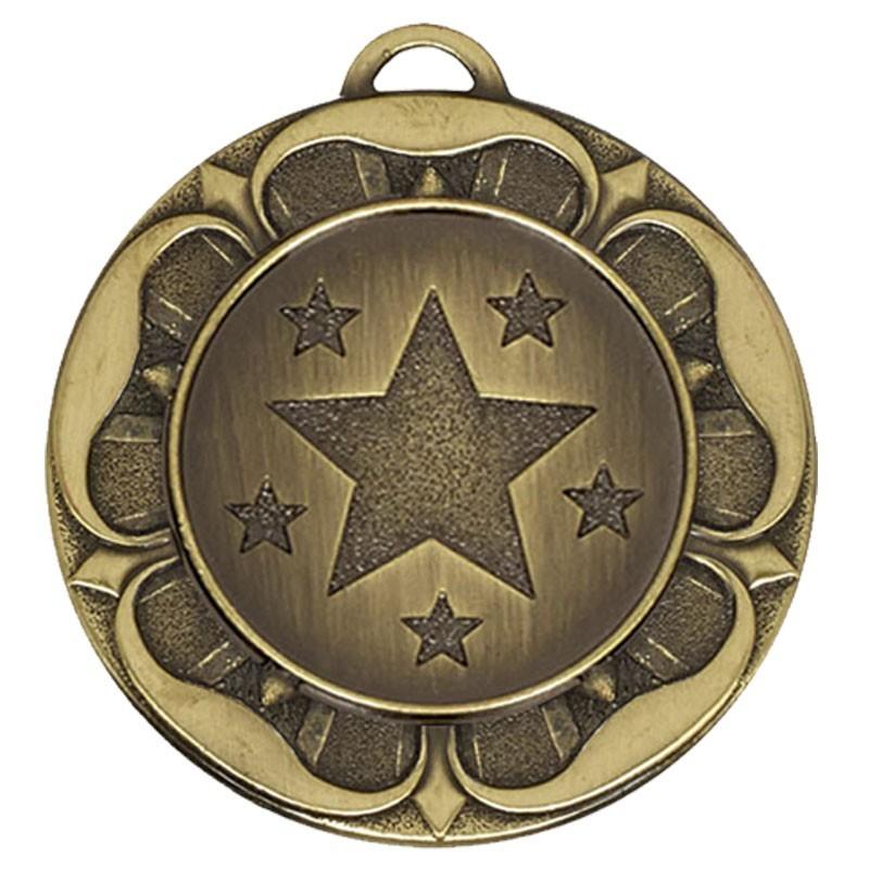 4cm Target40 Tudor Rose Medal