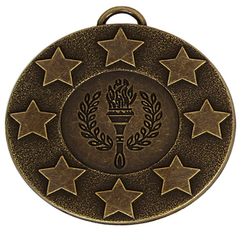 5cm Target Stars Medal With Ribbon