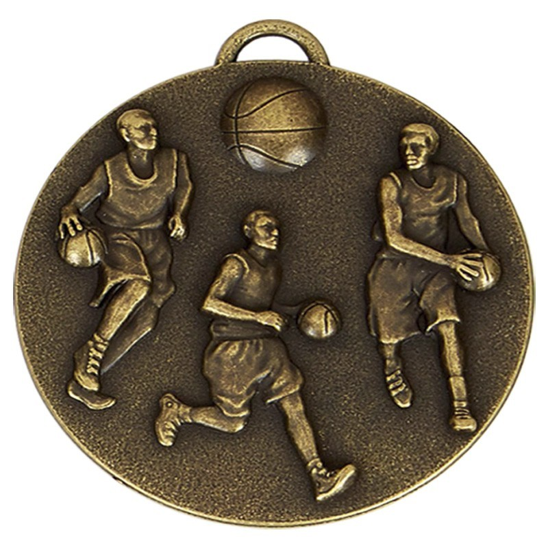 5cm Target Basketball Medal With Ribbon