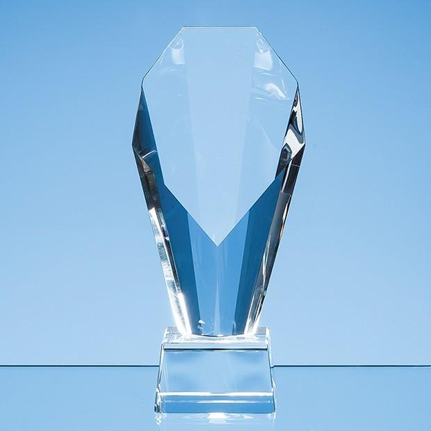 18.5cm Optical Crystal Mounted Diamond Award