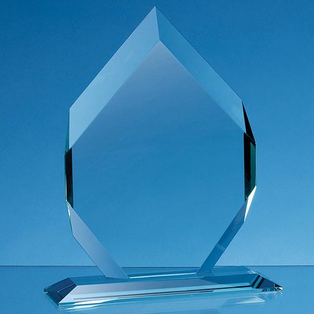 15cm x 10cm x 15mm Jade Glass Majestic Diamond Award