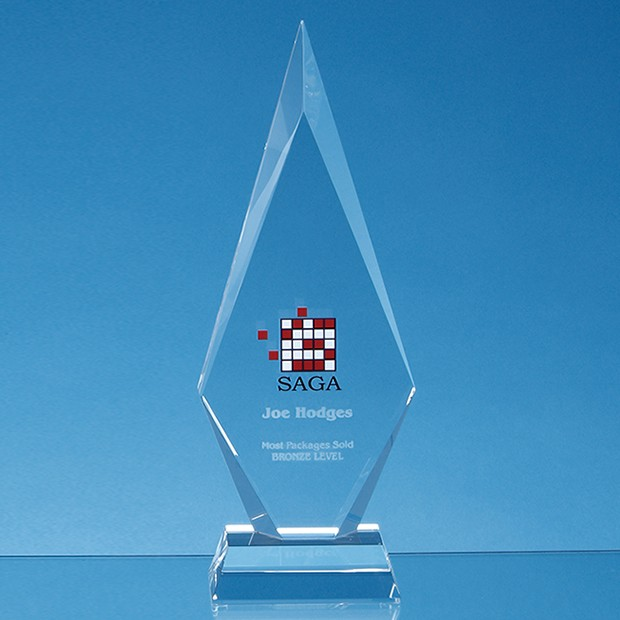 25.5cm Optical Crystal Kovel Peak Award
