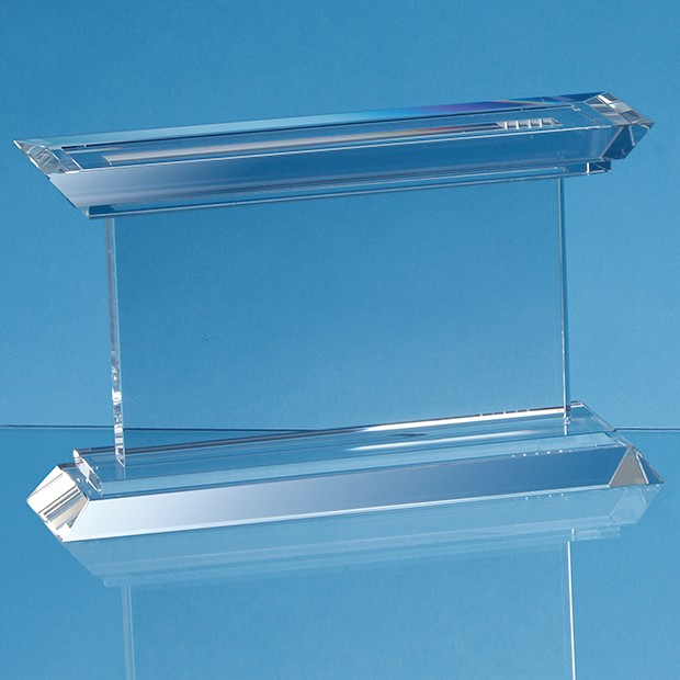 Optical Crystal Janus Mounted Rectangle Award - 3 Sizes