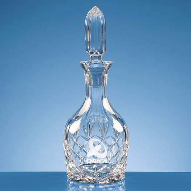 0.75ltr Lead Crystal Round Wine Decanter