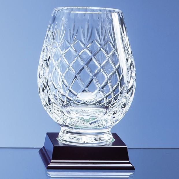 15cm Lead Crystal Panelled Tulip Vase
