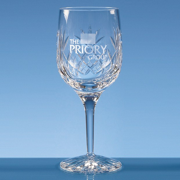 280ml Blenheim Lead Crystal Panel Goblet