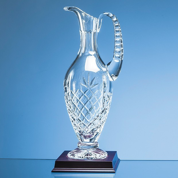28cm Lead Crystal Panelled Claret Jug