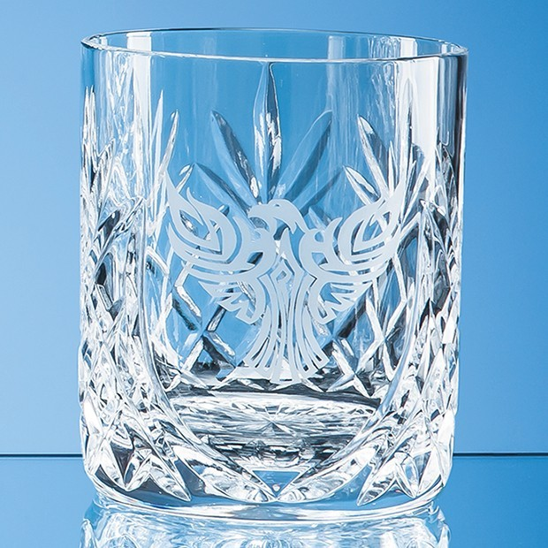 400ml Glencoe Lead Crystal Panel Whisky Tumbler