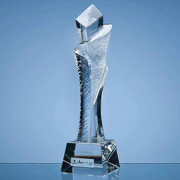28.5cm Optical Crystal Breaker Award