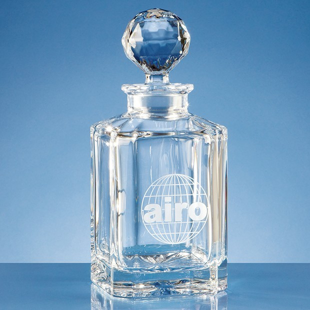 0.8ltr Crystal Square Spirit Decanter