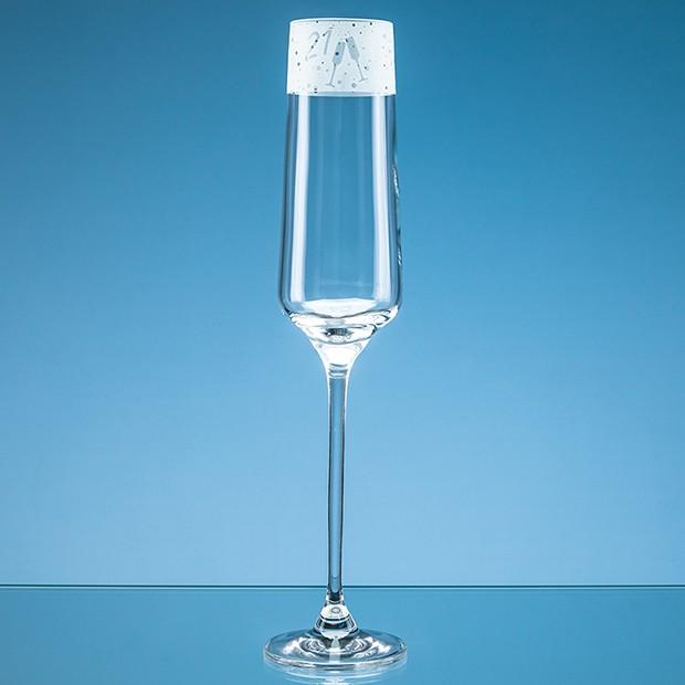 190ml '21' Frieze Design Champagne Flute
