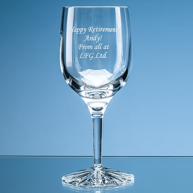 220ml Grosvenor Lead Crystal Wine Glass with Star Cut Base