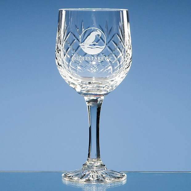 240ml Durham Lead Crystal Panel Goblet