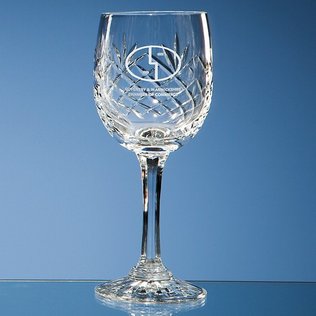 170ml Durham Lead Crystal Panel Red Wine Glass