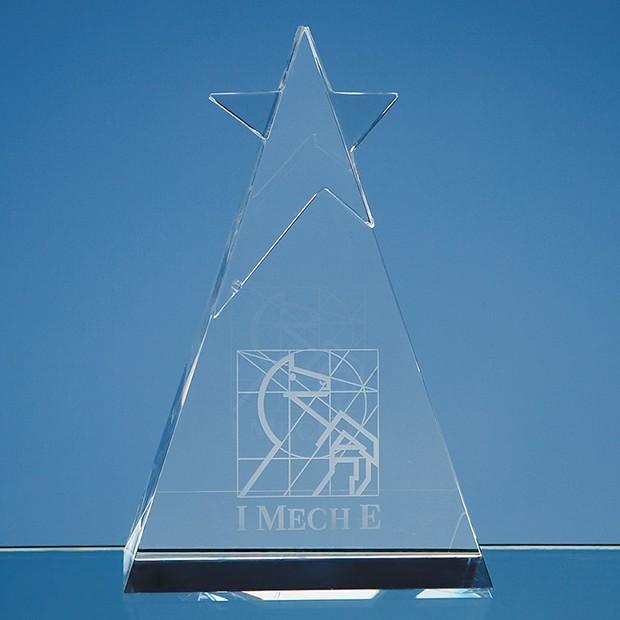 15cm Optical Crystal Star Triangle Award