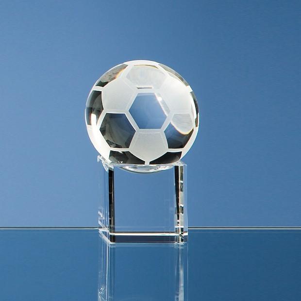 5cm Optical Crystal Football on Clear Base