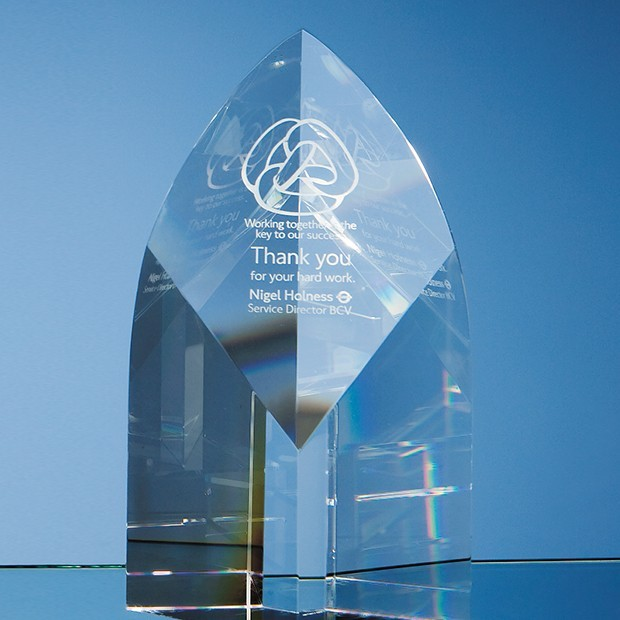 20cm Optical Crystal Arch Award
