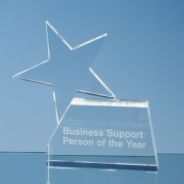 14cm Optical Crystal Single Rising Star Award