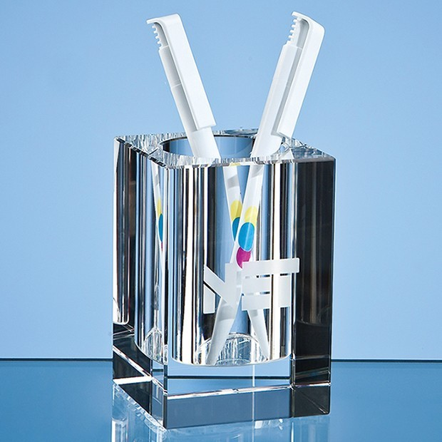 10.5cm Optical Crystal Pen Holder