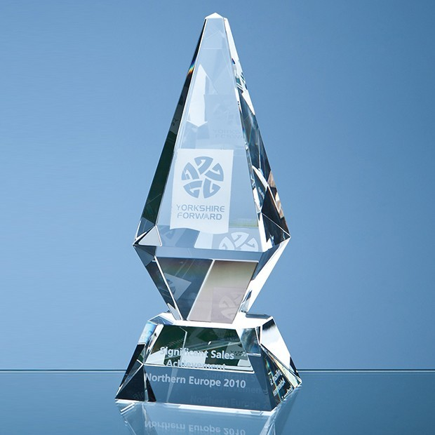 25cm Optical Crystal Glacier Award