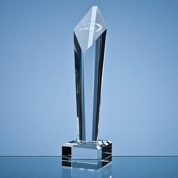 29cm Optical Crystal Diamond Column Award