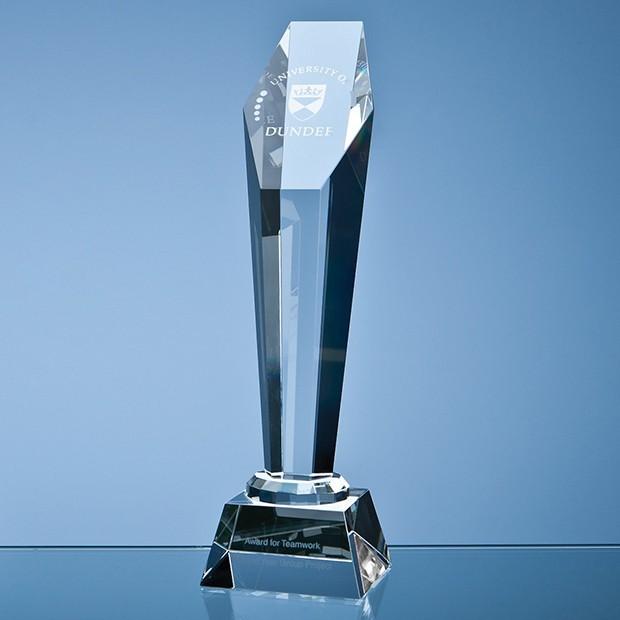 28cm Optical Crystal Hexagon Column Award