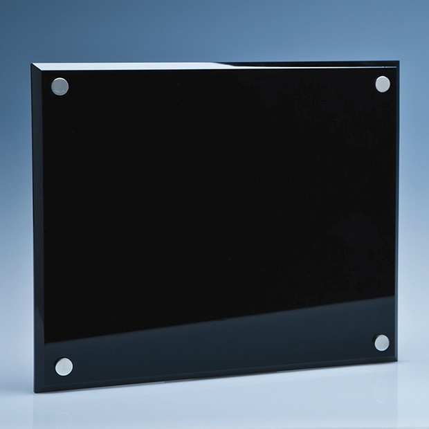 25cm x 20cm Onyx Black Wall Display Plaque inc Fixing Kit