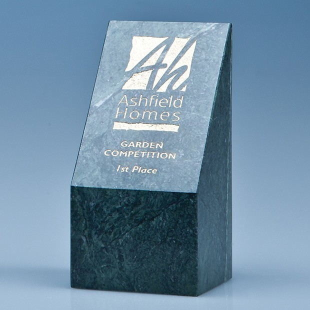 15cm Green Marble Slope Award