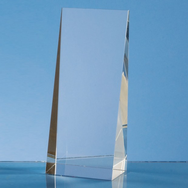 16.5cm Optical Crystal Wedge Rectangle Award