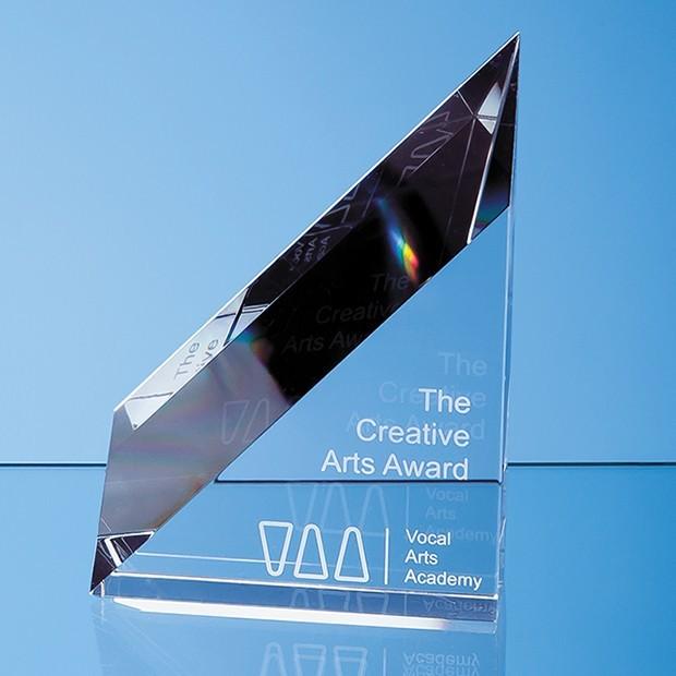 18cm Optical Crystal Stafford Peak Award