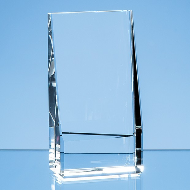 12.5cm Optical Crystal Vertical Slope Award