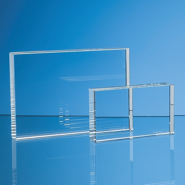 7.5cm x 12.5cm Optical Crystal Rectangle, H or V