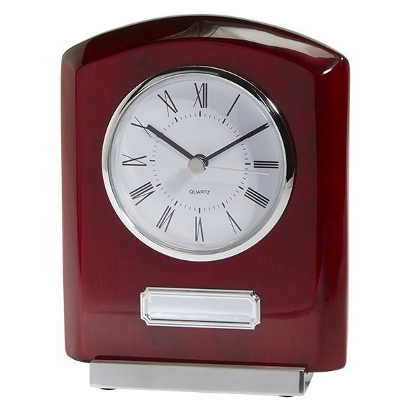 Idaho Crystal & Rosewood Clock Award 152mm